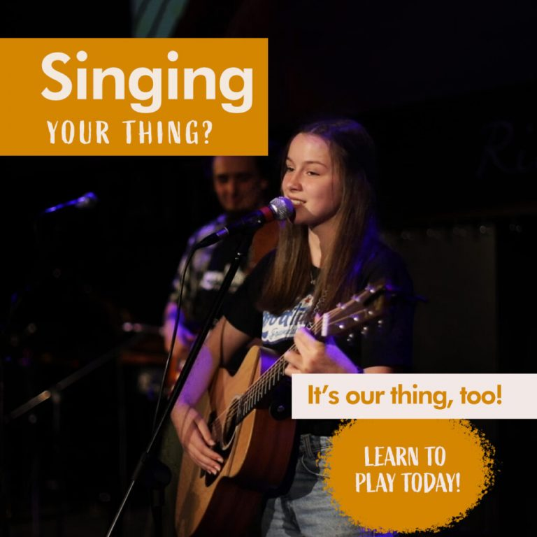 singing your thing? it's our thing, too learn to play today