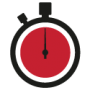 Stopwatch illustration with 60 minutes highlighted