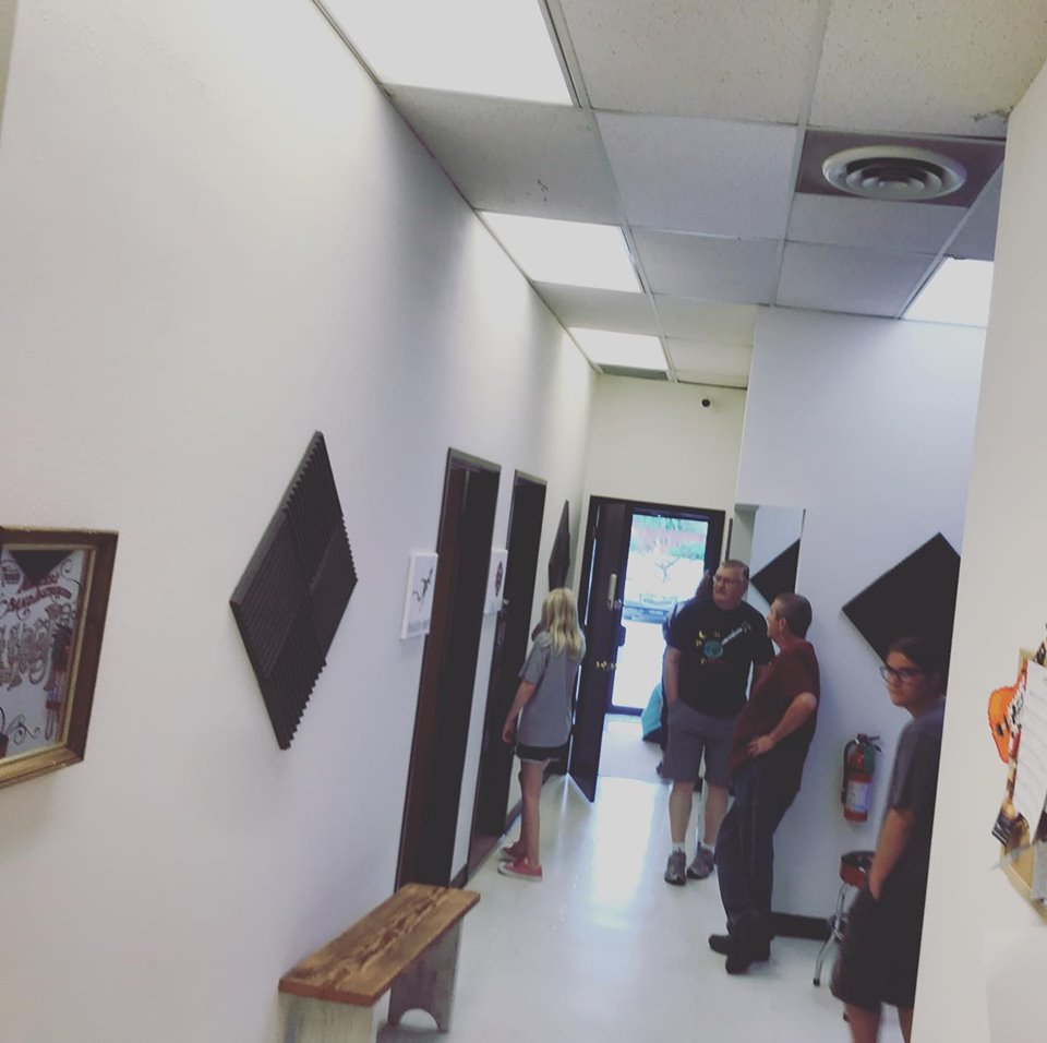 Red dirt music academy hallway