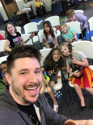 ukulele class group photo